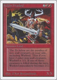 Keldon Warlord, Magic: The Gathering, Unlimited Edition