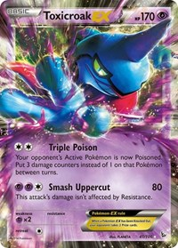 Toxicroak EX, Pokemon, XY - Flashfire