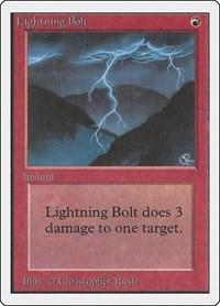 Lightning Bolt, Magic: The Gathering, Unlimited Edition