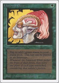 Llanowar Elves, Magic: The Gathering, Unlimited Edition