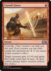 Crowd's Favor, Magic: The Gathering, Magic 2015 (M15)