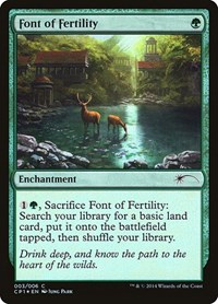Font of Fertility, Magic: The Gathering, Unique and Miscellaneous Promos