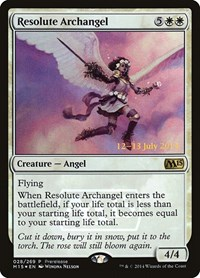 Resolute Archangel, Magic: The Gathering, Prerelease Cards