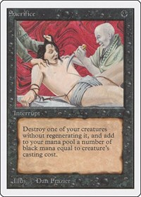 Sacrifice, Magic: The Gathering, Unlimited Edition