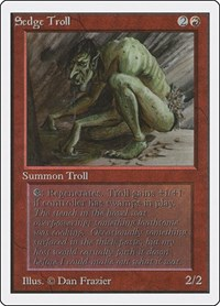 Sedge Troll, Magic, Unlimited Edition