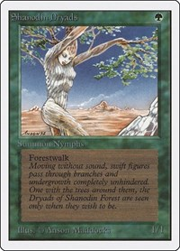 Shanodin Dryads, Magic: The Gathering, Unlimited Edition