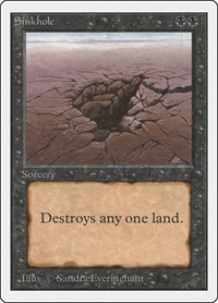 Sinkhole, Magic: The Gathering, Unlimited Edition
