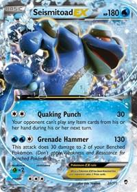 Seismitoad EX, Pokemon, XY - Furious Fists