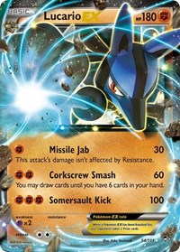 Lucario EX, Pokemon, XY - Furious Fists