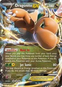 Dragonite EX, Pokemon, XY - Furious Fists