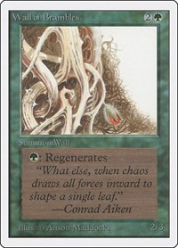 Wall of Brambles, Magic: The Gathering, Unlimited Edition