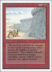 Wall of Stone, Magic: The Gathering, Unlimited Edition