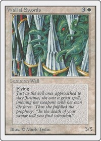 Wall of Swords, Magic: The Gathering, Unlimited Edition