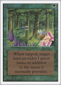 Wild Growth, Magic: The Gathering, Unlimited Edition