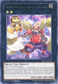 Number 64: Ronin Raccoon Sandayu, YuGiOh, 2014 Mega-Tins Mega Pack