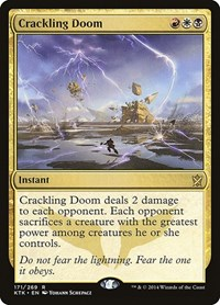 Crackling Doom, Magic: The Gathering, Khans of Tarkir