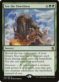 See the Unwritten, Magic: The Gathering, Khans of Tarkir