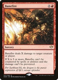 Banefire, Magic: The Gathering, Duel Decks: Speed vs. Cunning