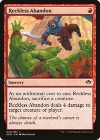 Reckless Abandon, Magic: The Gathering, Duel Decks: Speed vs. Cunning