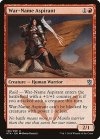 War-Name Aspirant, Magic, Khans of Tarkir