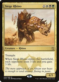 Siege Rhino, Magic: The Gathering, Khans of Tarkir