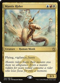 Mantis Rider, Magic: The Gathering, Khans of Tarkir