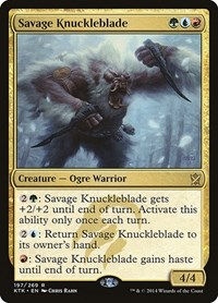 Savage Knuckleblade, Magic: The Gathering, Khans of Tarkir