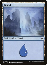 Island (255), Magic: The Gathering, Khans of Tarkir