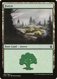 Forest (267), Magic: The Gathering, Khans of Tarkir