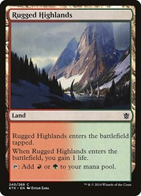 Rugged Highlands, Magic: The Gathering, Khans of Tarkir