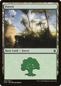 Forest (266), Magic: The Gathering, Khans of Tarkir