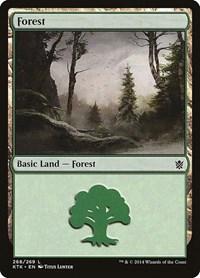 Forest (268), Magic: The Gathering, Khans of Tarkir