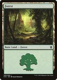 Forest (269), Magic: The Gathering, Khans of Tarkir