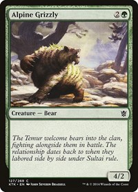 Alpine Grizzly, Magic: The Gathering, Khans of Tarkir