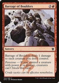 Barrage of Boulders, Magic: The Gathering, Khans of Tarkir