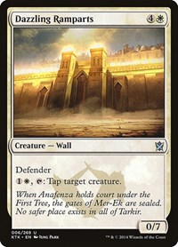 Dazzling Ramparts, Magic, Khans of Tarkir