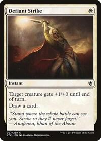 Defiant Strike, Magic: The Gathering, Khans of Tarkir