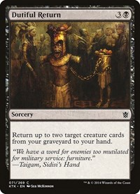 Dutiful Return, Magic: The Gathering, Khans of Tarkir