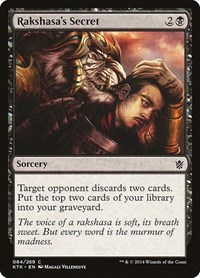 Rakshasa's Secret, Magic: The Gathering, Khans of Tarkir