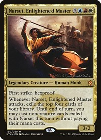 Narset, Enlightened Master, Magic: The Gathering, Prerelease Cards