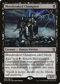 Bloodsoaked Champion, Magic: The Gathering, Prerelease Cards