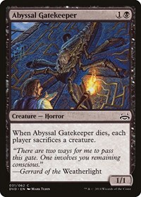 Abyssal Gatekeeper, Magic: The Gathering, Duel Decks: Anthology