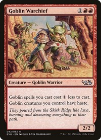 Goblin Warchief, Magic: The Gathering, Duel Decks: Anthology