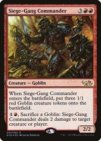Siege-Gang Commander, Magic: The Gathering, Duel Decks: Anthology