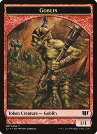 Goblin // Goat Double-sided Token, Magic: The Gathering, Commander 2014