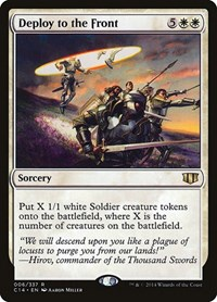 Deploy to the Front, Magic: The Gathering, Commander 2014