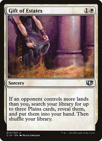 Gift of Estates, Magic: The Gathering, Commander 2014