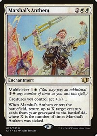 Marshal's Anthem, Magic: The Gathering, Commander 2014