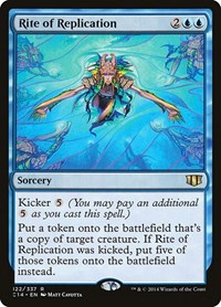 Rite of Replication, Magic: The Gathering, Commander 2014