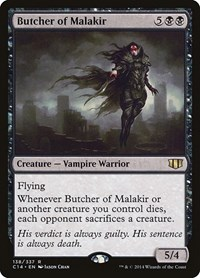 Butcher of Malakir, Magic: The Gathering, Commander 2014